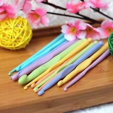 """12pcs 6"""" 15cm Plastic Crochet Hooks Crocheting Knitting Needles 2-10mm"""