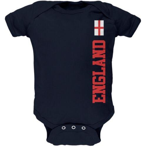 World Cup England Navy Newborn Infant One Piece Onesie