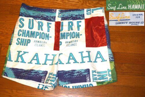 VINTAGE 70's ORIGINAL JAMS SURF LINE SHORTS Duke K