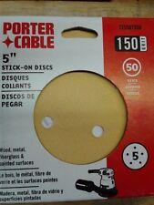 "5/"" NN1192*B PORTER CABLE 725001050 STICK-ON DISCS PK50 100 GRIT ORANGE"