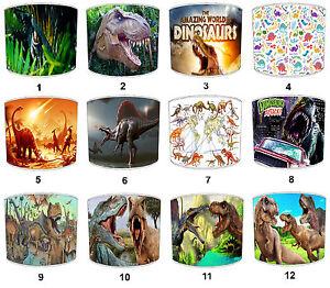 Pantallas-de-Lampara-Para-Combinar-Dinosaurios-edredones-Cubiertas-amp-T-Rex