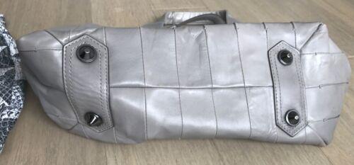 voor lederen Krakoff grijs duif linten dames Rieten satchel 1TKlJ3Fc