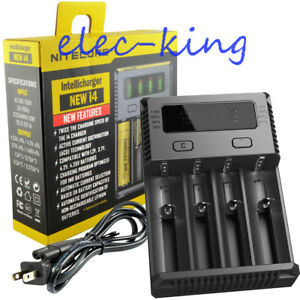 NEW-2019-Nitecore-i4-Smart-4-Channel-IMR-Battery-Charger-18650-16340-26650-AAA