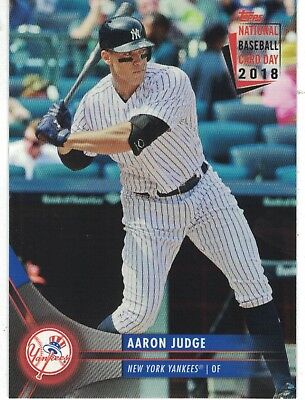 2018 Topps National Baseball Card Day Ntcdg 1 Aaron Judge New York Yankees Ebay