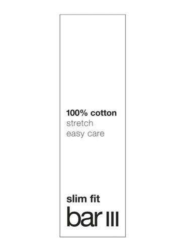 $95 BAR III Men SLIM-FIT WHITE PINK CHECK LONG-SLEEVE DRESS SHIRT 17-17.5 34//35
