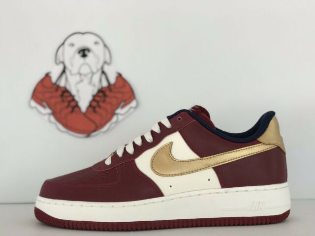 nouvelle arrivee 358b1 58eff BRAND NEW NIKE AIR FORCE 1 LOW ID BURGUNDY/GOLD/WHITE MNS SZ.9 (AJ4757- 901)