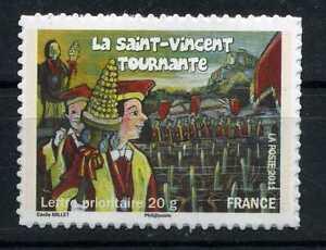 N-583a-ADHESIF-LA-SAINT-VINCENT-TOURNANTE-TIMBRE-DE-FEUILLE-NEUF