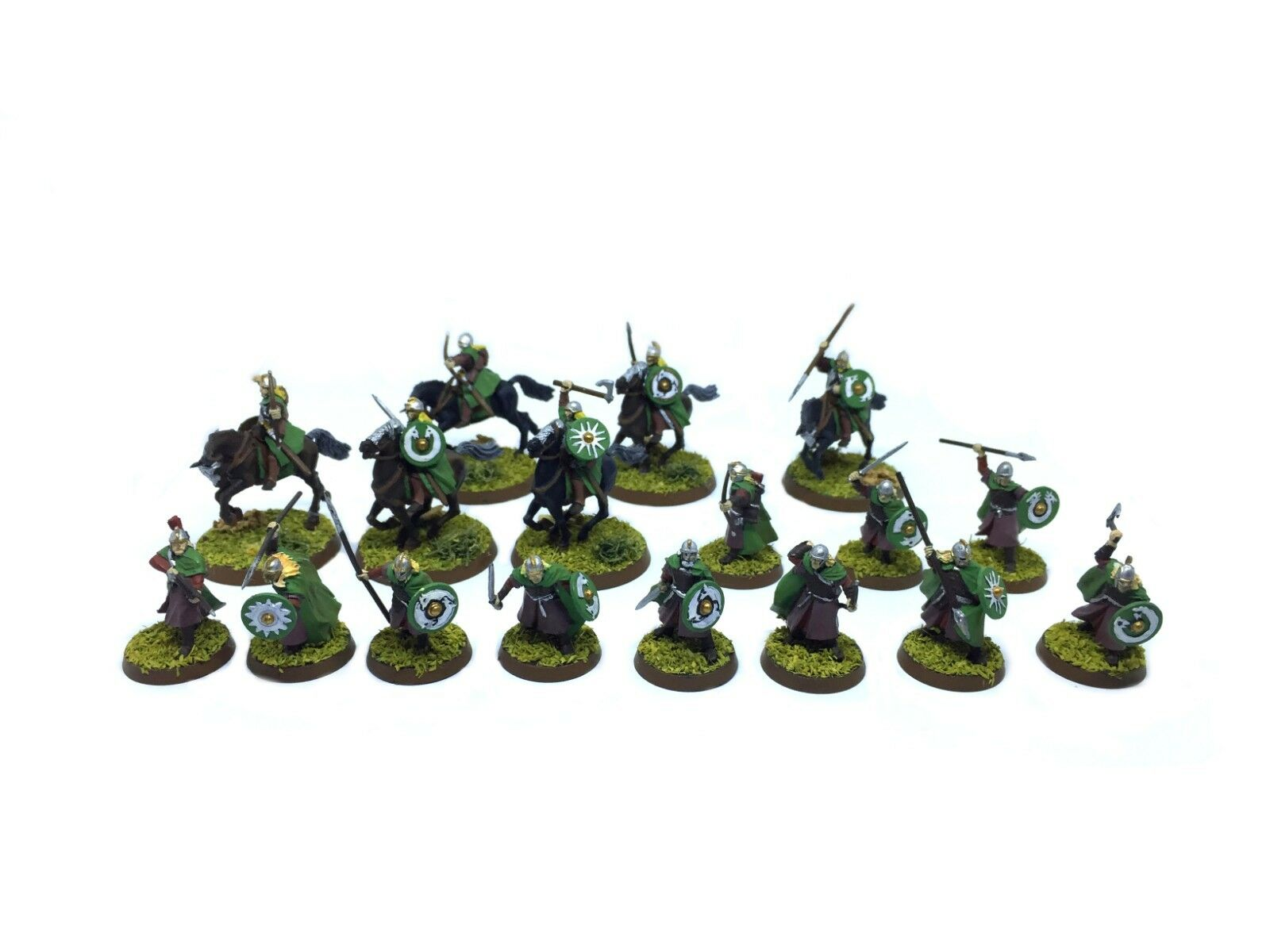 The lord of of of the rings - Rohan Army (painted) - 1 3 32in 25879b