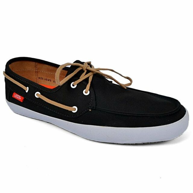 9ed4202fd882 VANS off The Wall Surf Chauffeur Black Tan Boat Shoes Mens 7 for ...
