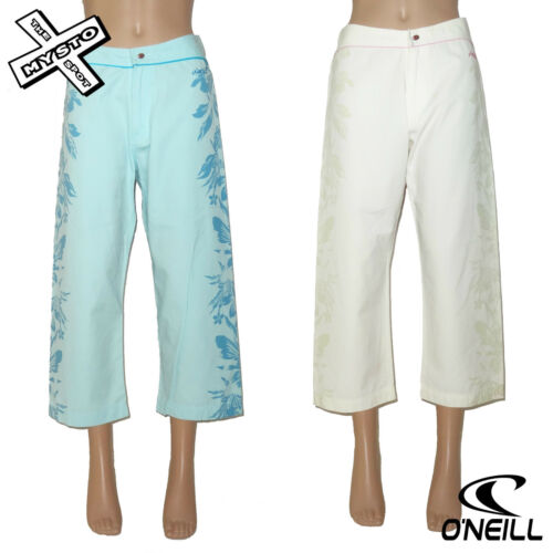 O/'NEILL BOARD BABES /'IPANEMA PANEL/' 3//4 TROUSERS CAPRI BLUE WHITE 8 14 RRP £45
