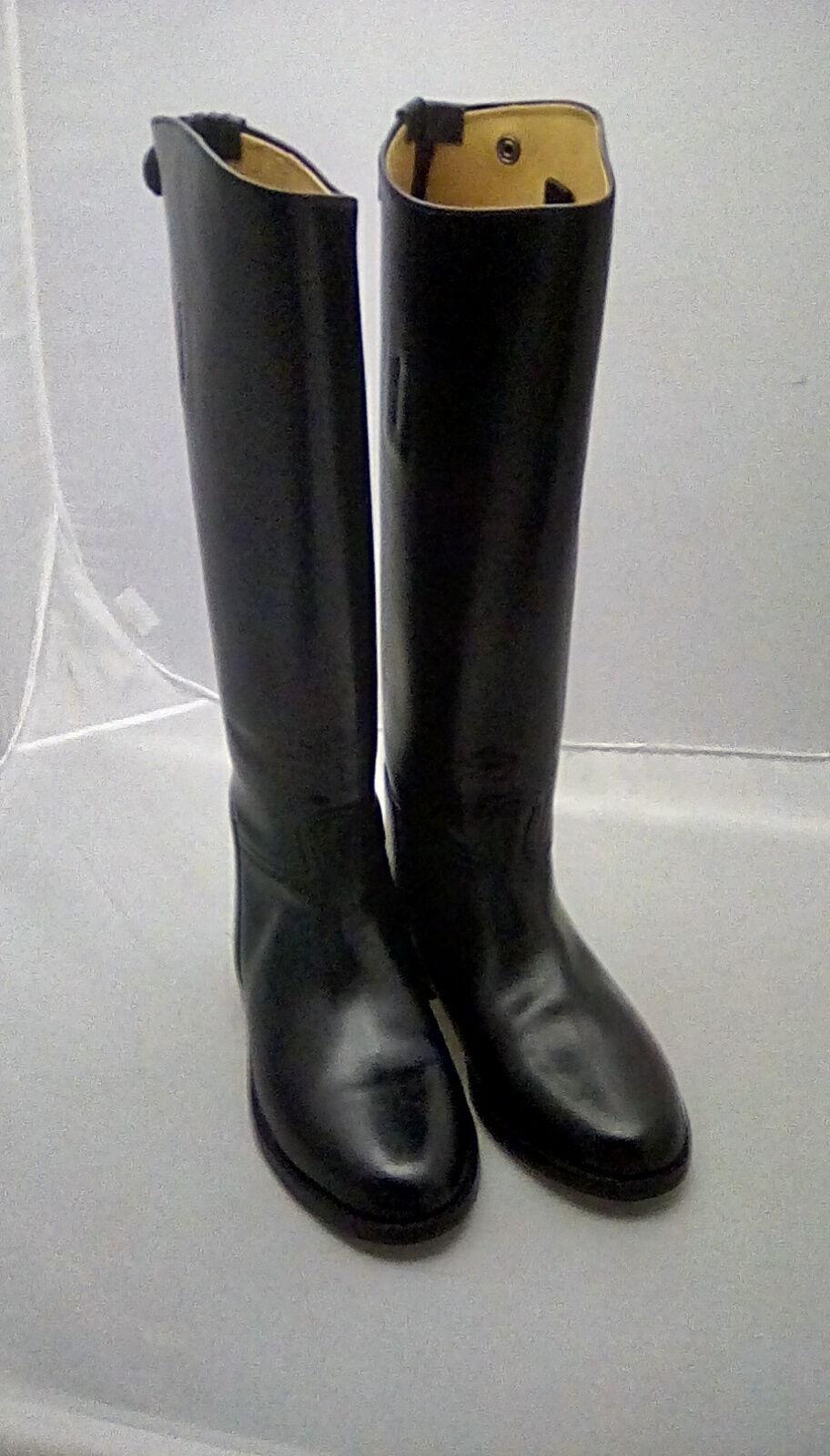 Toggi Chepstow Largo Cuero Negro botas De Montar estándar