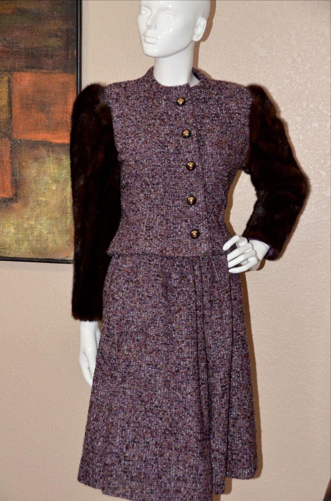 Arnold Scaasi Couture Stunning Vintage Mink Cropp… - image 6
