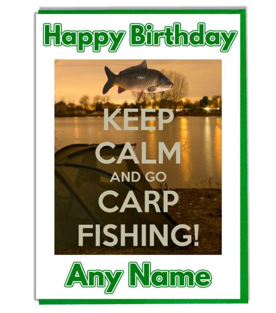 Personalised Carp Fishing Birthday Card