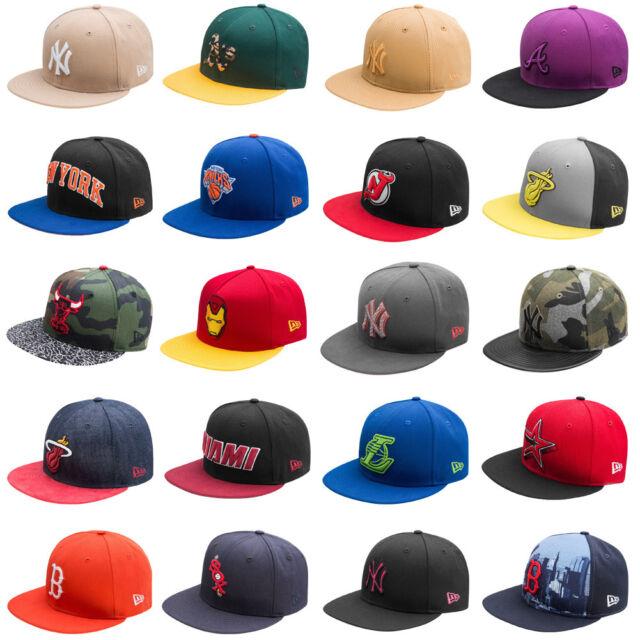 New Era 59 Fifty Cap Snapback Freizeit Baseball Kappe NBA MLB NHL Snap Back neu