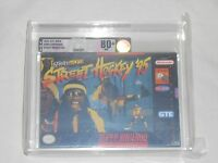 Street Hockey '95 Super Nintendo Vga 80+ Silver Graded Snes Game Hocky 95
