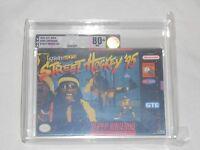 Street Hockey '95 Super Nintendo Vga 80+ Silver Graded Snes Game Hocky 95