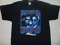 Vintage Elton John 2009 Tour Shirt Concert Billy Joel 2 Sided Xl 3x Small Black
