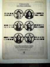 VINEGAR JOE 6 Star General 1973 UK Poster size Press ADVERT 16x12 inches