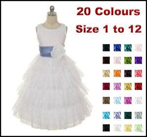 Lace-White-Flower-Girl-Dress-Wedding-Party-Communion-Confirmation-Girls-Dress