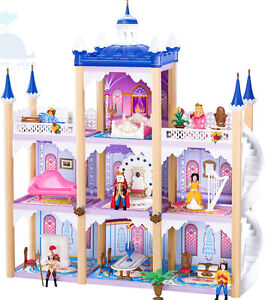 Kidcraft-Easy-Assembly-Dolls-House-Princess-039-Dream-Castle-With-Furniture-2017