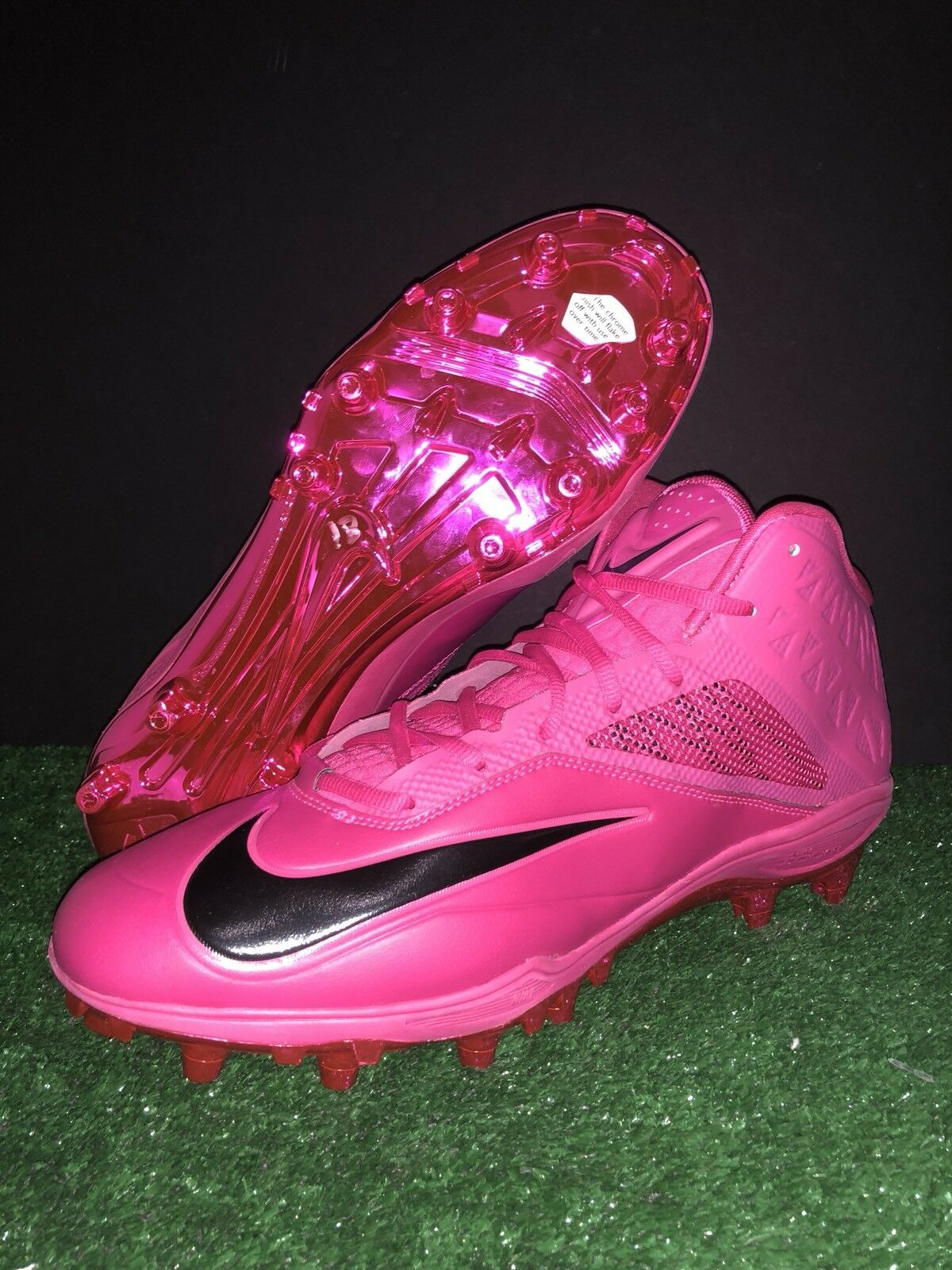 NIKE ZOOM CODE ELITE TD FOOTBALL CLEATS PINK 695508-606 MEN 14.5 BREAST CANCER