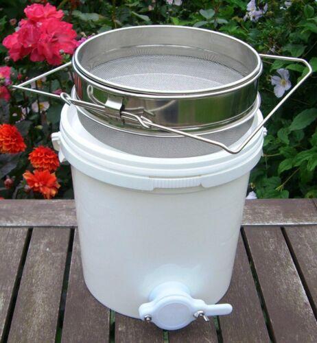 20L Honigeimer mit Deckel Honigschleuder für Imkerei Bienenhonig+EdelstahlSifter