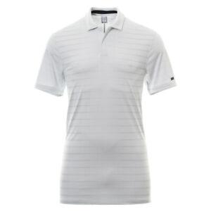 Nike-Golf-Tiger-Woods-Gestreiftes-Polo-Shirt-Medium-Weiss-bv0350-100