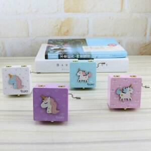Unicorn-Wooden-Music-Box-Decorations-Birthday-Party-Favors-Hand-Cranked-New