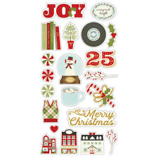 Simple Stories Country Christmas Collection Chipboard Stickers 11320