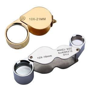 S2-10X-21-MM-Fach-Uhrmacher-Lupe-Vergroeueerungsglas-Handlupe-Juwelier-Taschenlu