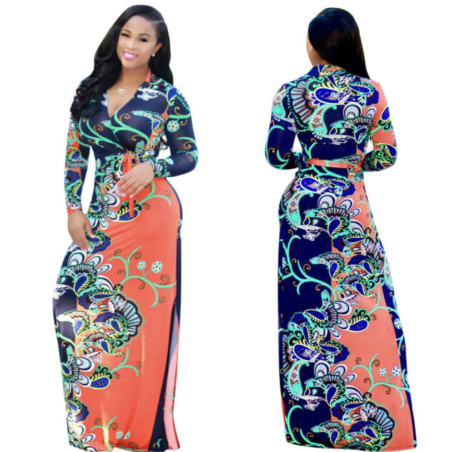 New Women Dashiki Traditional Graffiti African Ball Gown Maxi Print Dress Xl 5xl Clothing Shoes Accessories Dresses