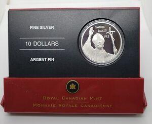 Canada 2005 $10 Pope John Paul II  .9999 Silver Proof Coin