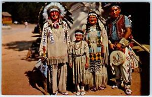 native american indian chief running horse and family ca 1950s rh ebay com Indian Chief Skull Logo Indian Chief Motorcycle Logo