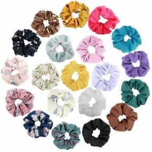 Elastics-Chiffon-Hair-Scrunchies-Floral-Elastic-Bands-Bobbles-Ponytail-Holder
