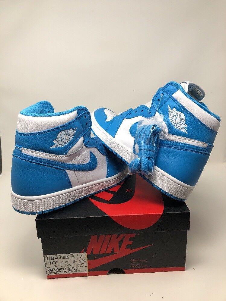 2018 Nike Air og Jordan 1 retro High og Air azul polvo UNC precio de 555088-117 reducción salvaje Casual Shoes 921ed3