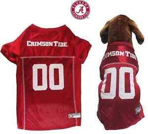 wholesale dealer ca3c7 f4095 Details about NCAA Pet Fan Gear ALABAMA CRIMSON TIDE Dog Jersey Shirt for  Dogs BIG SIZE XS-2XL
