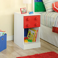 Sauder Furniture 417912 Primary Street Toy Block Lego Nightstand W/drawer