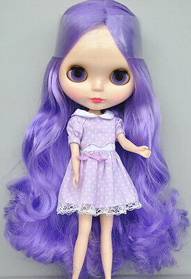 "Takara 12"" Neo Blythe Light Purple Curly Hair Nude Doll from Factory TBO129"
