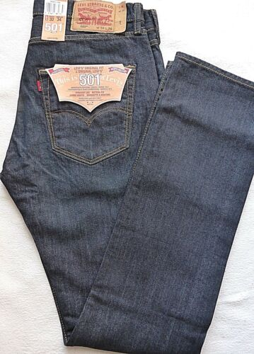 Black Fit Jeans W36 Original L34 da Blue Levis Dark uomo 501 yfOqWU8gnf