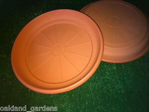 5 X 28cm Erica Saucer Terracotta Plant Pot Planter Plastic Drip Tray
