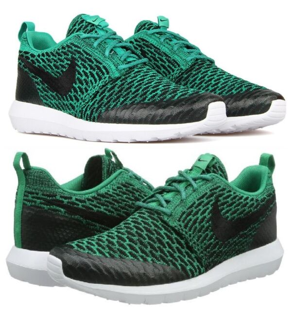 the best attitude ffb52 0bf1c NIKE ROSHE ONE NM FLYKNIT SE MEN s MESH M CASUAL LUCID GREEN - BLACK - WHITE