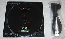 Genuine Original Sony Ericsson W960i Phone CD Software PC Suite & USB Data Cable