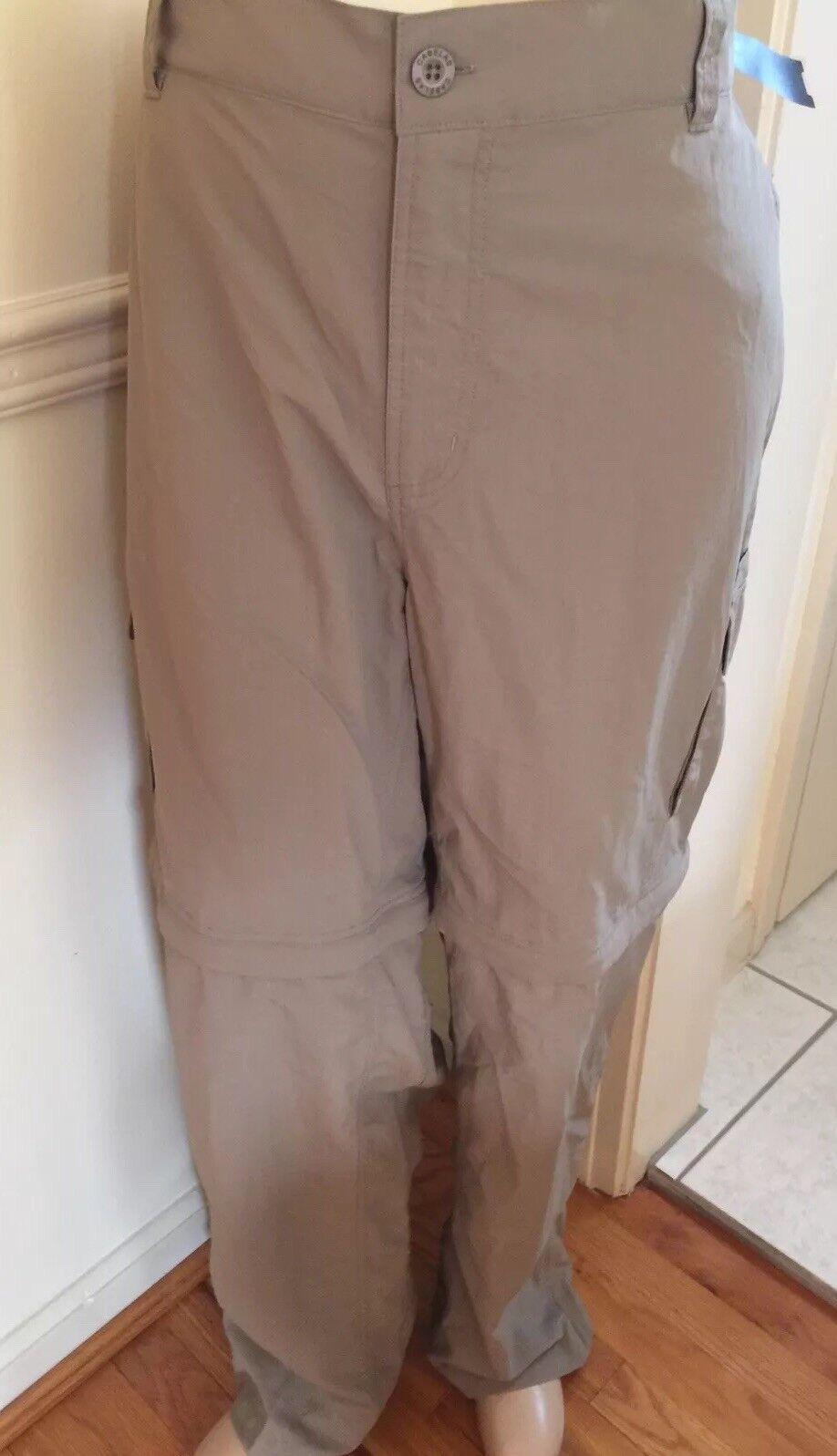 NWT Tan Desert Cabela's Congreenible Zip Off Pant Shorts Nylon Cargo 2XL X34