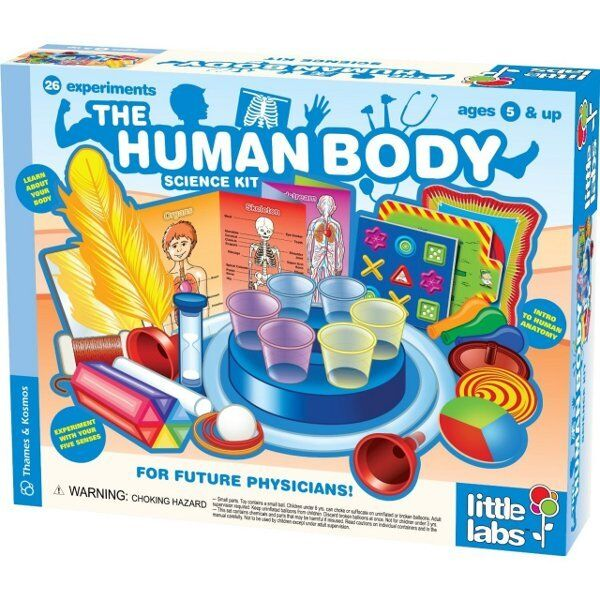 THE HUMAN BODY Educational SCIENCE KIT Thames & Kosmos Kids First Lab