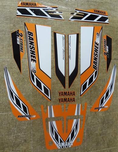 Yamaha banshee quad sticker graphics decal 13pc Special Edition Orange//White ATV