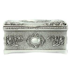 Vintage-Silver-Jewelry-Necklace-Bracelet-Box-Storage-Organizer-Holder-Case-R2B7