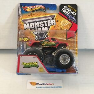 Tropical-Thunder-Hot-Wheels-Monster-Jam-w-Crushable-Car-A7