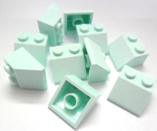 LEGO 10x Dachstein Schrägstein 2x2 Noppen 45° in Hell Aqua 3039