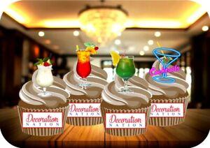 Detalles De Mezcla De Neón Cócteles Un 12 Vertical Para Cake Toppers Comestibles Decoración De Cumpleaños Beber Ver Título Original