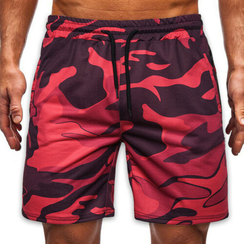 Men/'s Camo Cargo Shorts Military Army Printed Camouflage Drawstring Half Pants
